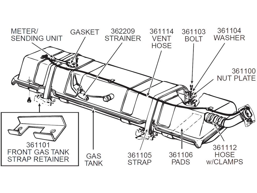 53 81 Gas Tank Meter Sending Unit Strainer