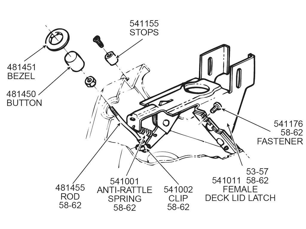 57 62 Deck Lid Push Button
