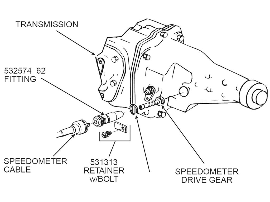 57 81 Speedometer Drive Gear Retainer
