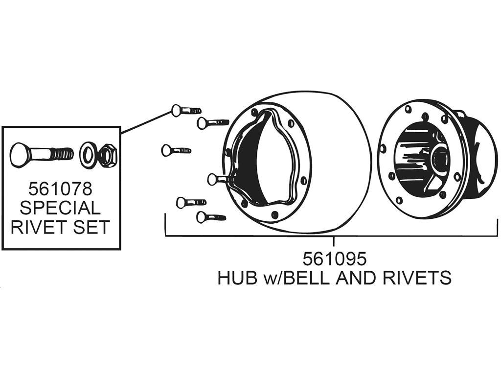56 62 Steering Wheel Hub
