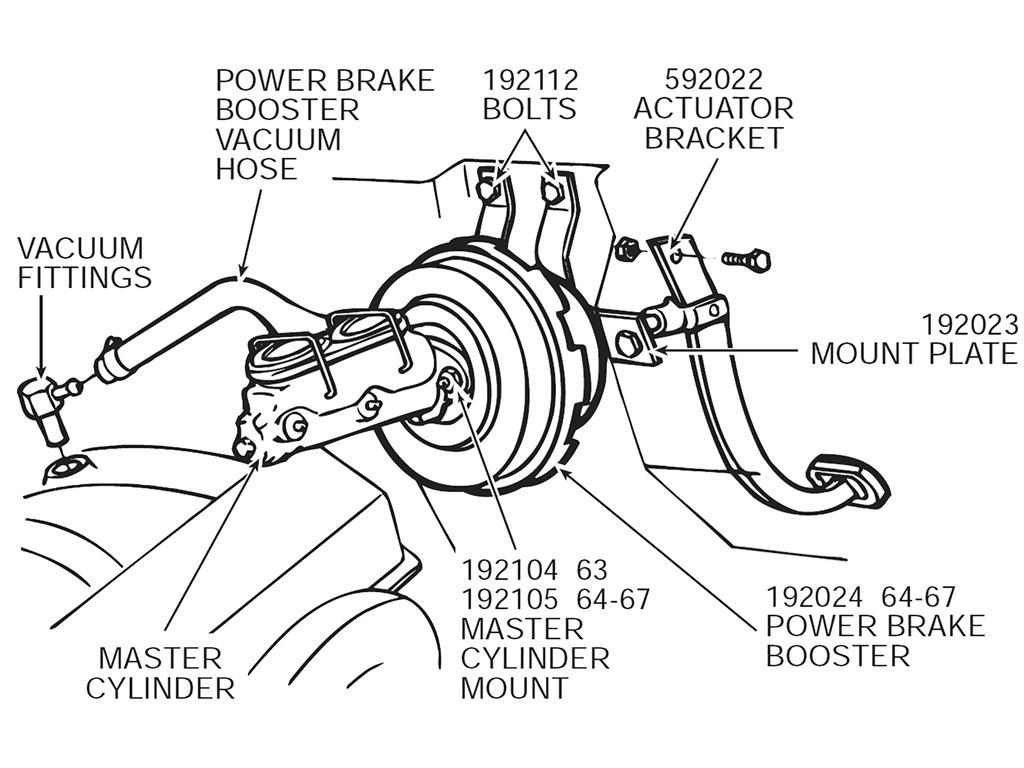 63 67 Power Brake Stop Light Switch Striker