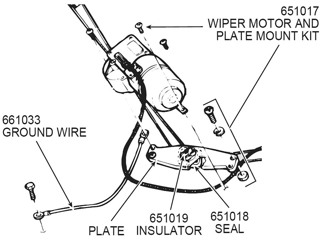 53 62 Windshield Wiper Motor Plate