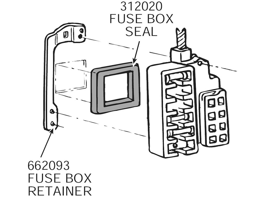 63 67 Fuse Box Mount Plate