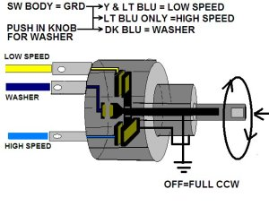 Need help with 67 wiper switchmotor wiring