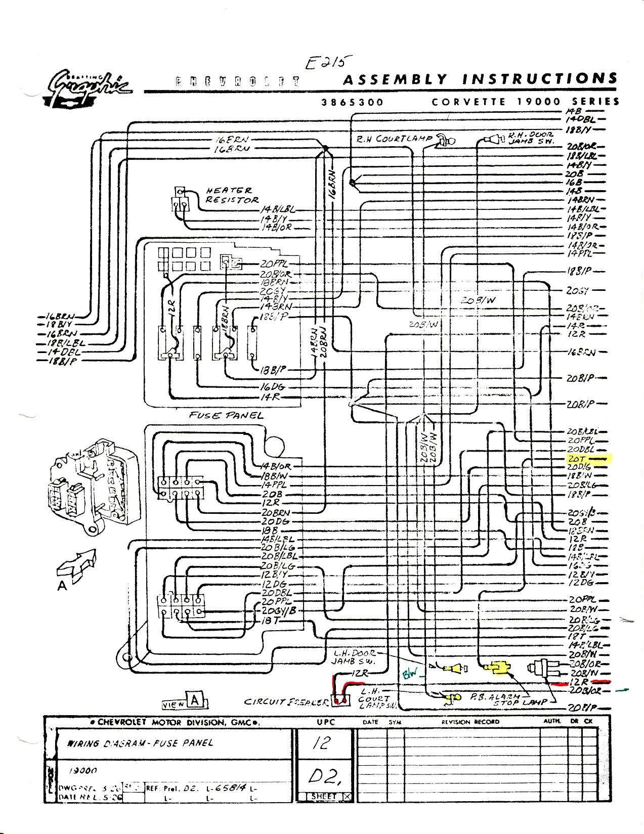C2 Corvette Dash Wiring Diagram 1973 1966 Headlight 1965 With A C On