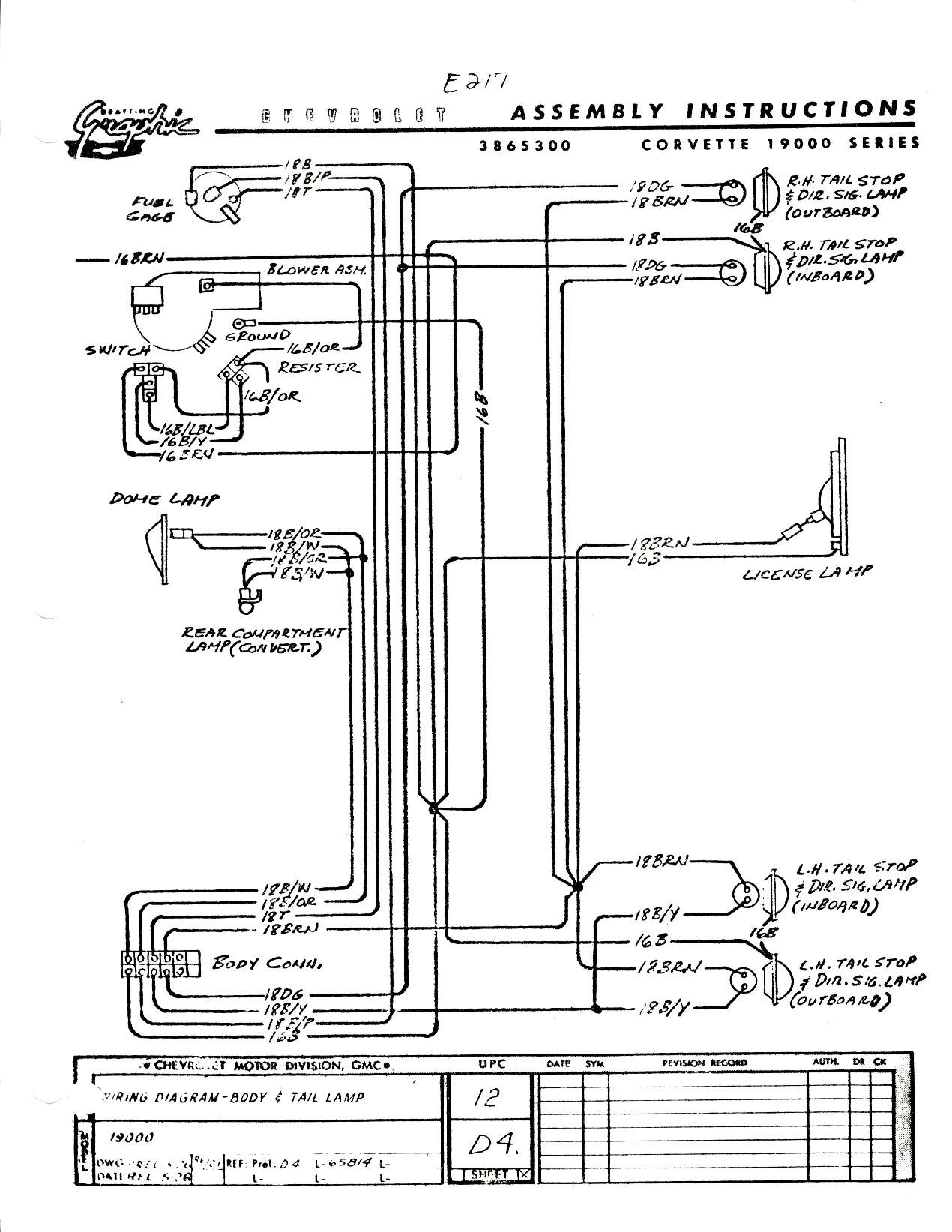 65 Vette Wiring Diagram
