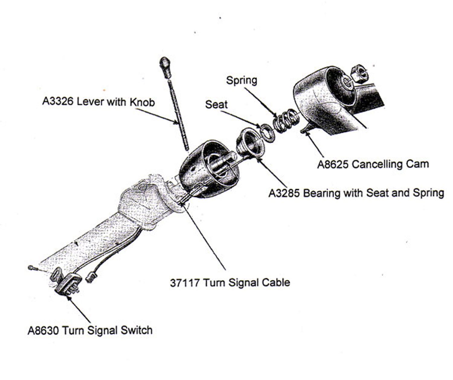Chevy Pickup Steering Column Diagram Wiring Schematic
