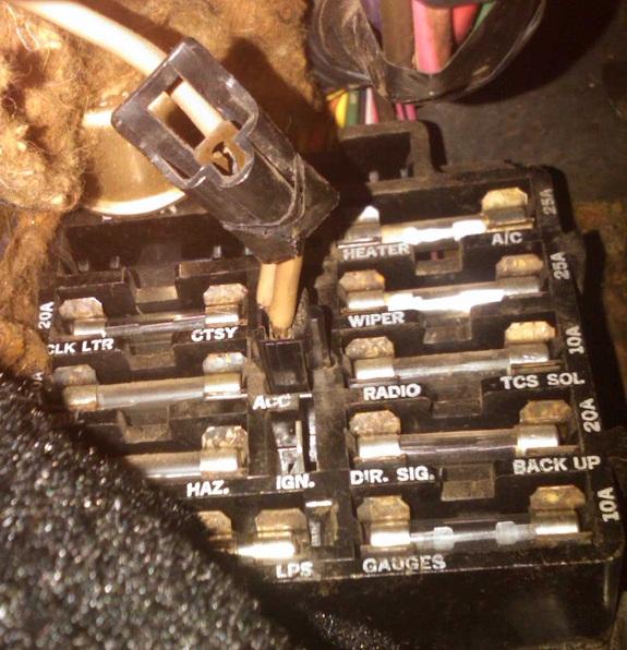 71 Fuse Box Question W Picture