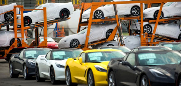 2014 C7 Corvette Stingray on Transporters at Bowling Green Home