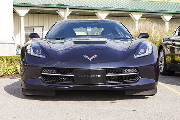 2014 Chevrolet Corvette Stingray with  Aero Cover for License Plate
