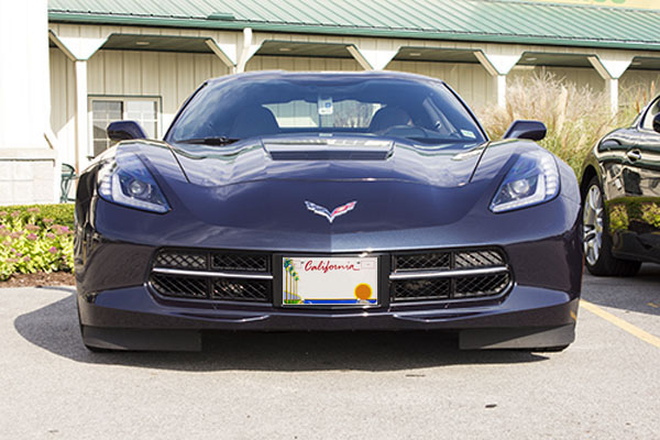2014 Chevrolet Corvette Stingray with California License Plate