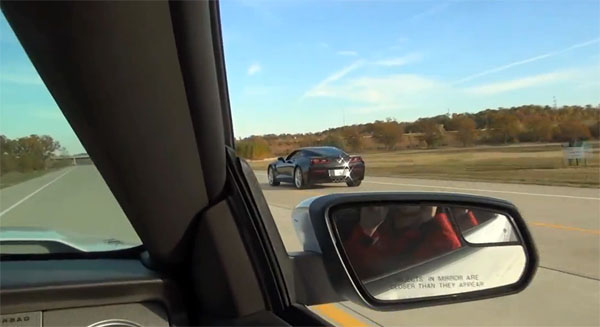 Chevrolet C7 Corvette Stingray versus Ford Mustang Shelby GT500 Drag Race 2