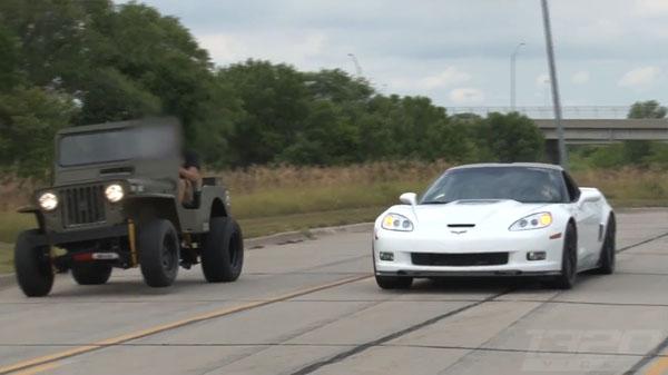 Willys Jeep vs Corvette ZR1 Home