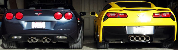 C6 and C7 Corvettes Side-by-Side Organic