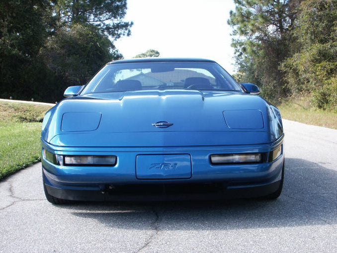 Blue C4 Corvette ZR-1