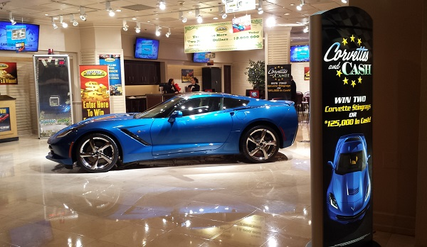 Corvette in Las Vegas side profile text
