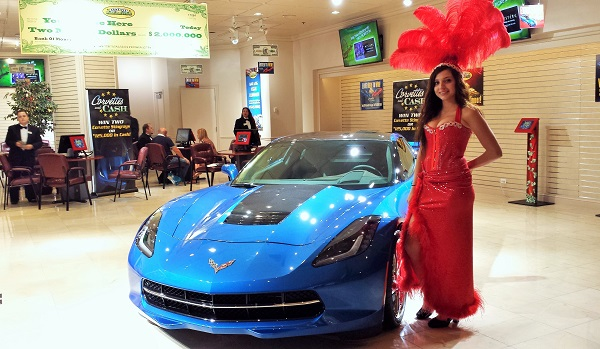 Corvette in Las Vegas text