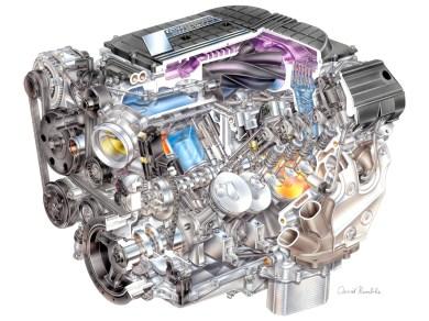 2015 Corvette Z06 LT4 Supercharged V8 Engine