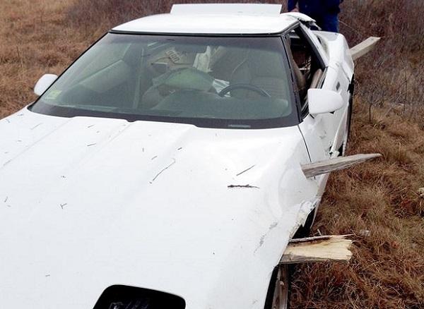 Wrecked Corvette text