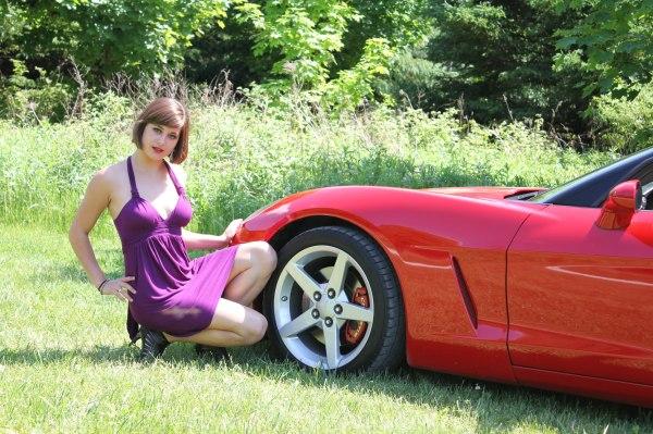 Beautiful Girl with C6 Corvette