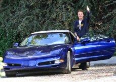 Paul McCartney and his C5 Chevrolet Corvette