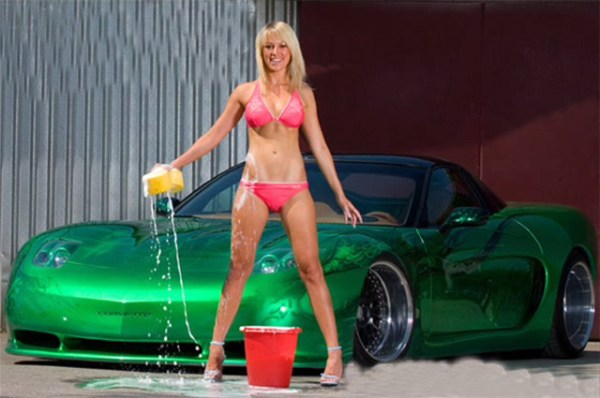 Custom C5 Corvette and Sexy Woman - Corvettes and Sexy Women