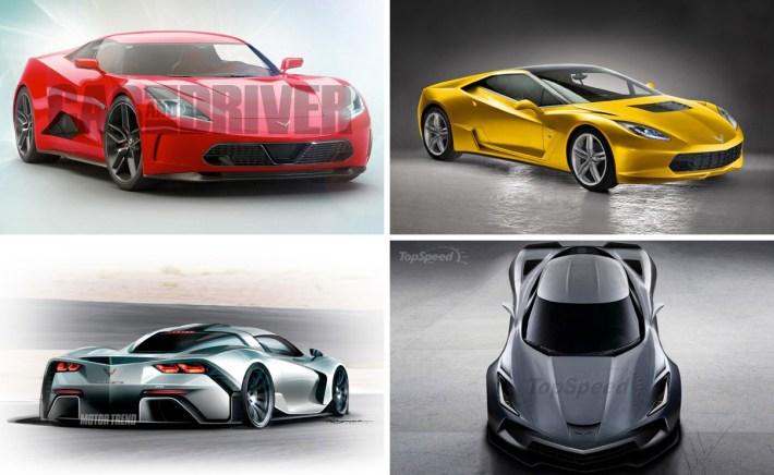 Mid-Engine Corvette Renderings