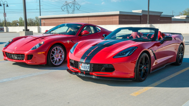 C7 Stingray VS Ferrari 599