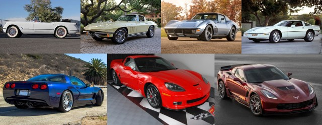 Corvette Generations Collage (C1-C2-C3-C4-C5-C6-C7)
