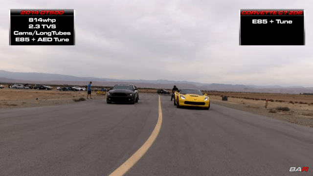 C7 Z06 vs '14 GT500