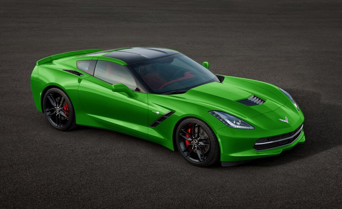 C7 Corvette Stingray in Electric Green