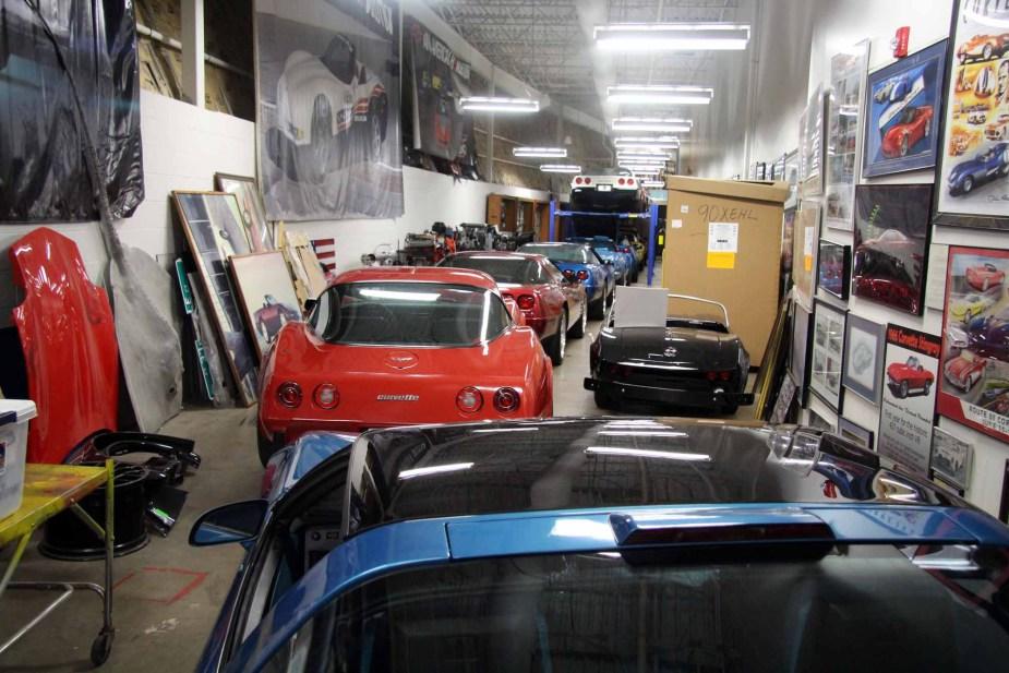 National Corvette Museum Back Room