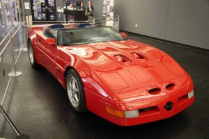 Red Callaway C4 Corvette at National Corvette Museum