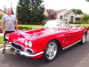 Joel Bernstein with 1962 Chevrolet Corvette