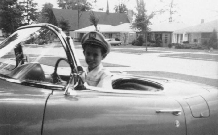 Kid in Classic C1 Corvette