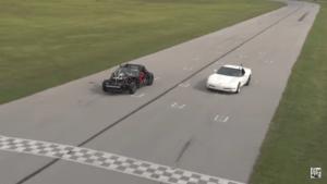 Big Race Between Unicorn C5 and 'Leroy' the Corvette