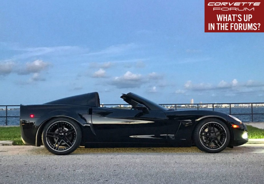 C6 Corvette in Miami with Targa Top
