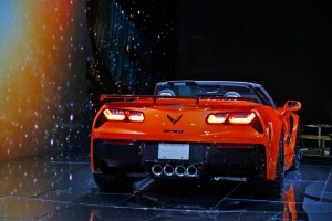 Chevrolet Corvette ZR1 at Los Angeles Auto Show Rear