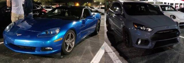 C6 Corvette and a Focus RS