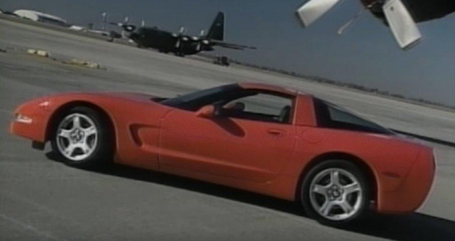 C5 Corvette in Red