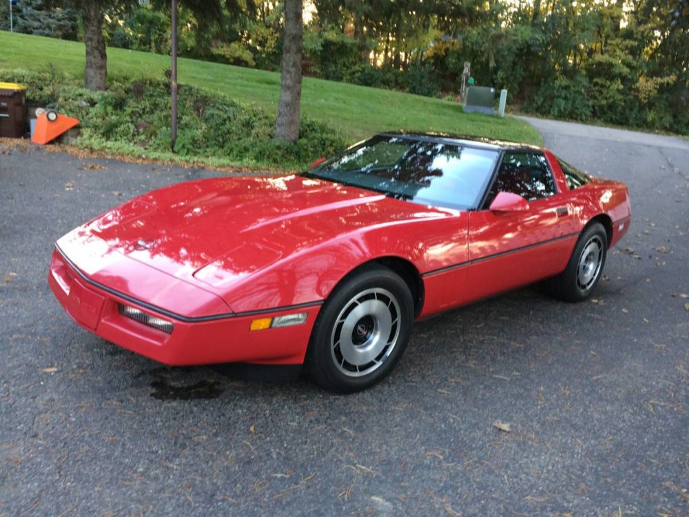 Stellar Red on Red 19k Mile C4 Corvette Is the One