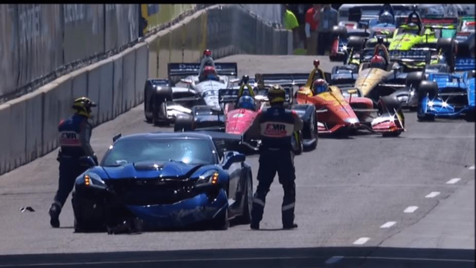 Belle Isle GP crash ZR1