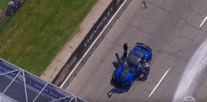 Corvette ZR1 Pace Car crash Mark Ruess