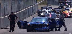 Corvette ZR1 Pace Car crash Mark Ruess