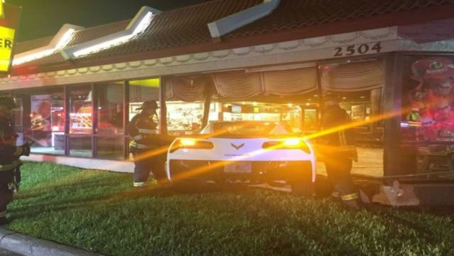 Corvette Visits McDonald's