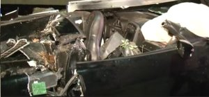 Wrecked Corvette Passenger's Side