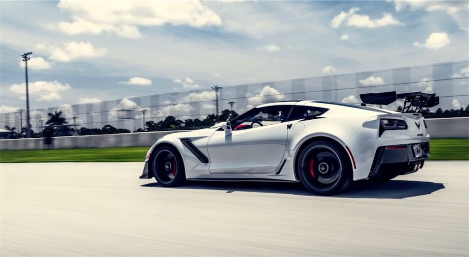 2019 ZR1 Corvette drag and roll racing.