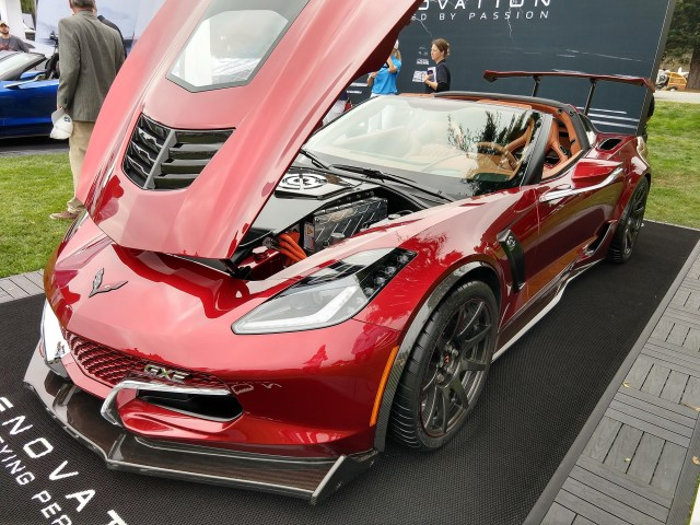 Genovation GXE 220 MPH Electric Corvette Pebble Beach Corvetteforum.com