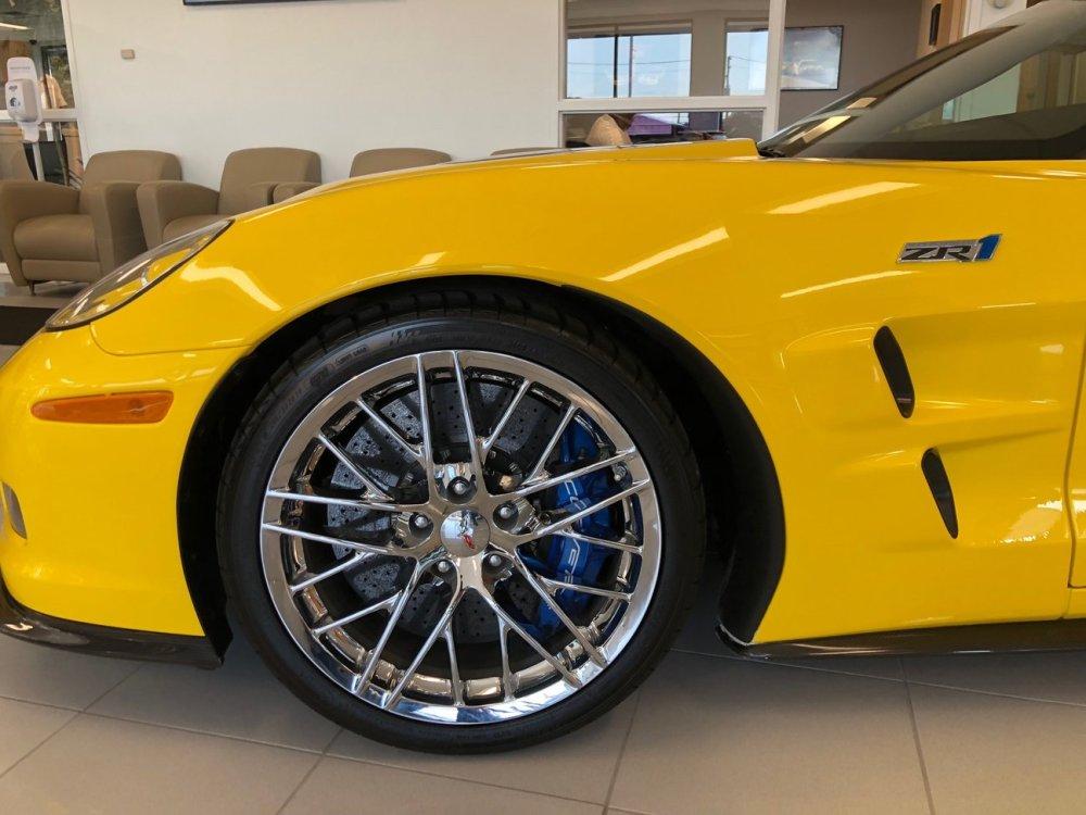 Velocity Yellow C6 Corvette ZR1 Front Wheel