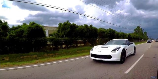 LT4 Corvette Stingray on the Road